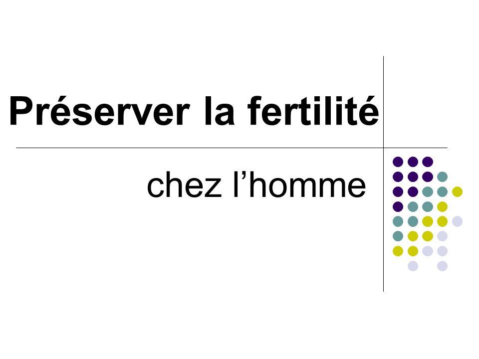 Préserver la fertilité chez lhomme