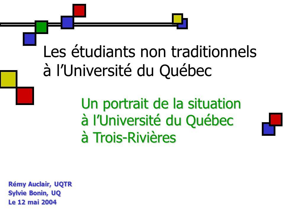 12 Profil des étudiants non traditionnels Motivations et intérêt pour le programme 72 %75 %60 % Choix de létab.