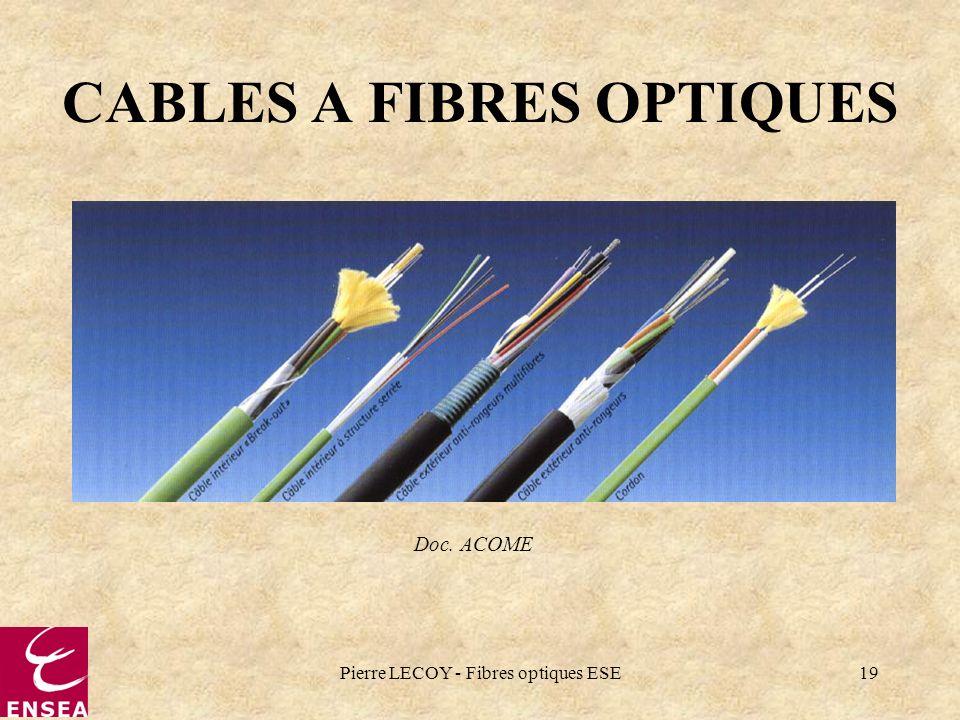 Pierre LECOY - Fibres optiques ESE19 CABLES A FIBRES OPTIQUES Doc. ACOME