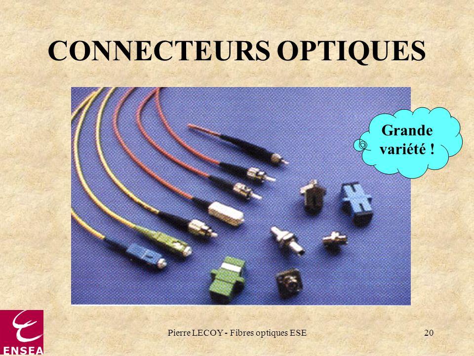 Pierre LECOY - Fibres optiques ESE20 CONNECTEURS OPTIQUES Grande variété !