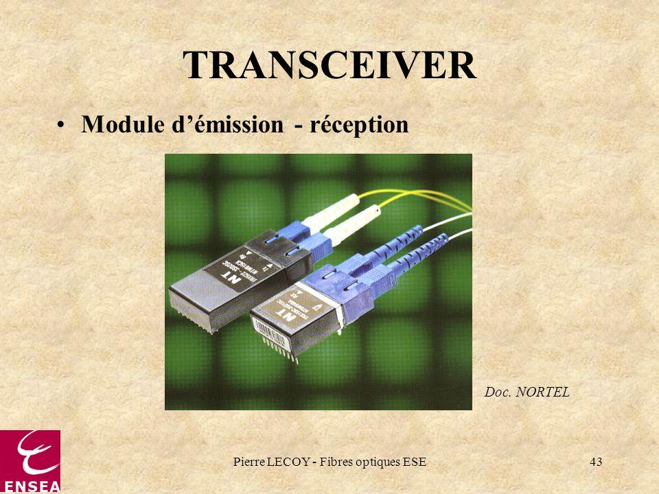 Pierre LECOY - Fibres optiques ESE43 TRANSCEIVER Module démission - réception Doc. NORTEL