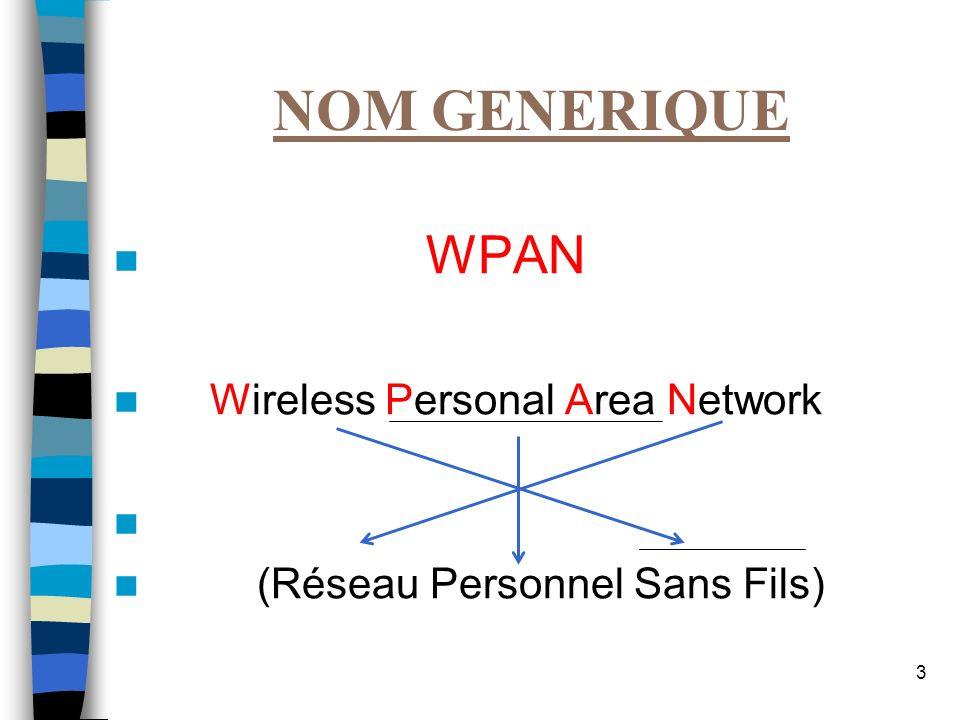 14 NORME IEEE 802.11b WI-FI Débit théorique: 11 Mbps réel : 5,5 Mb/s à 18m Portée : 35 m en intérieur sans obstacles 140 m en extérieur Bande : 2,4 GHz Largeur canal : 20MHz NB canaux : 13 (3 non recouvrants)