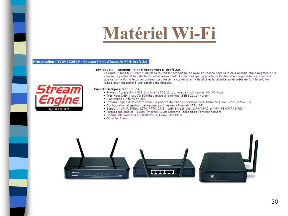 30 Matériel Wi-Fi