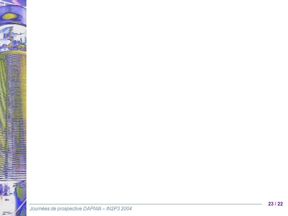 23 / 22 Journées de prospective DAPNIA – IN2P3 2004