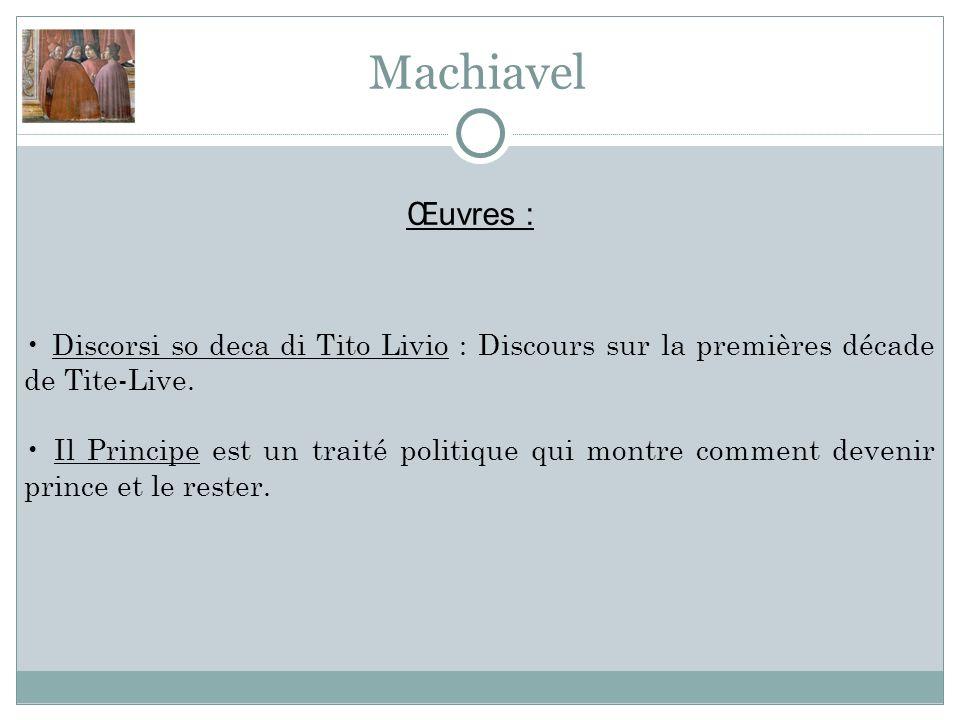 Discorsi so deca di Tito Livio : Discours sur la premières décade de Tite-Live.