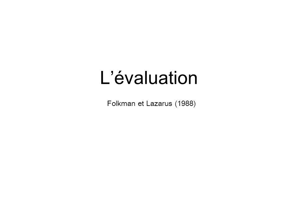 Lévaluation Folkman et Lazarus (1988)