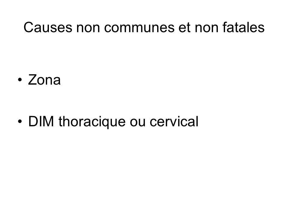 Zona DIM thoracique ou cervical