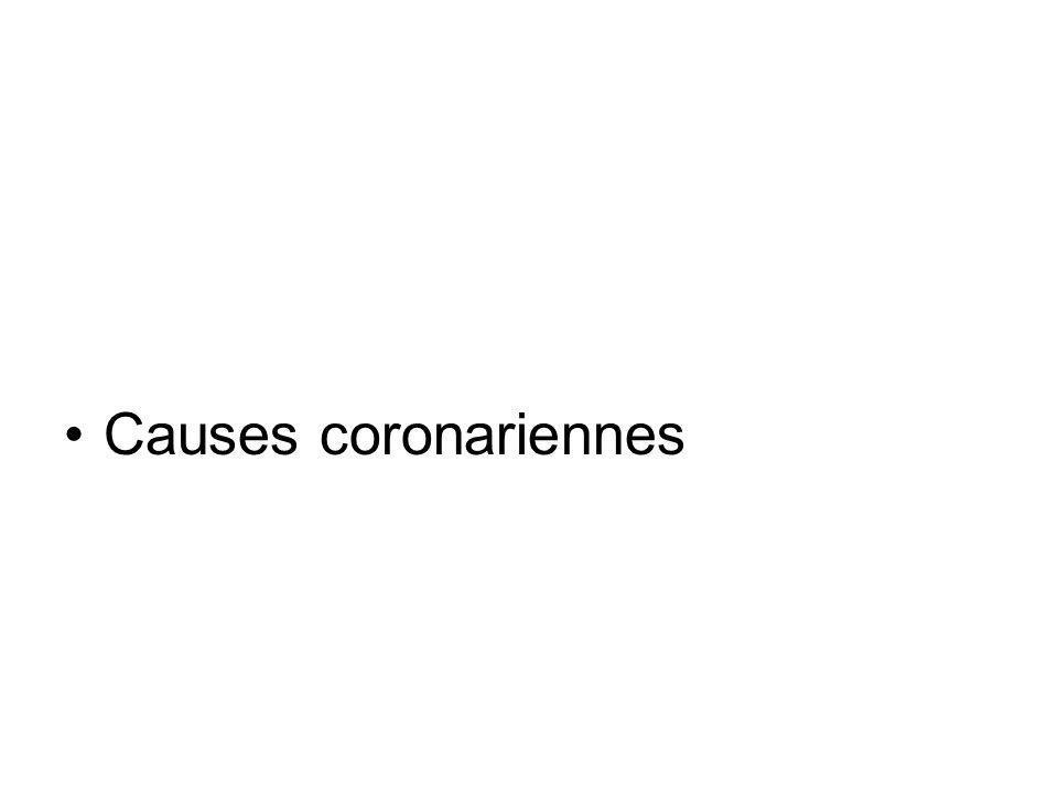 Causes coronariennes