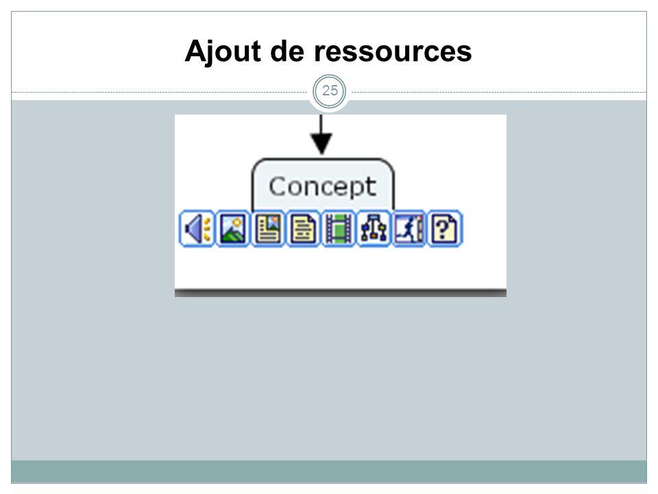 Ajout de ressources 25