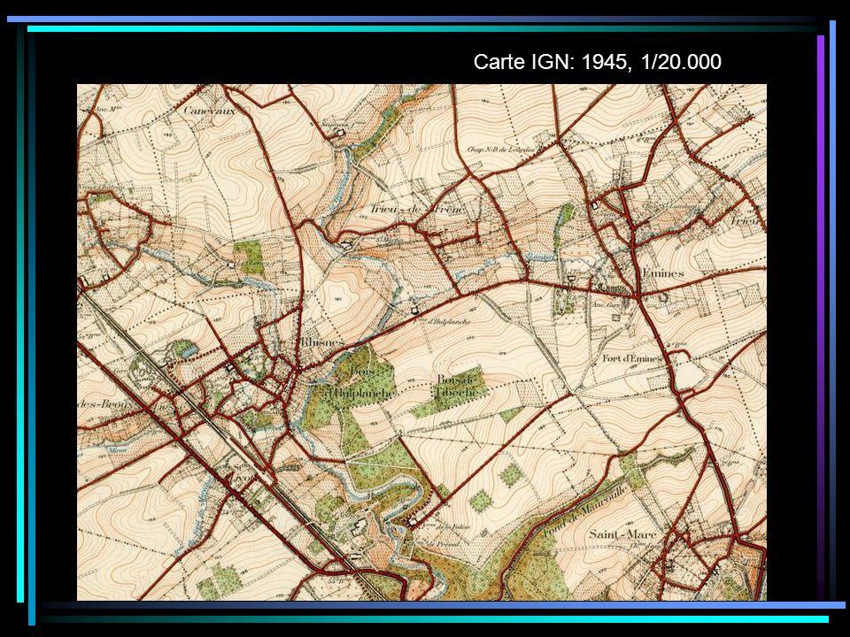 Carte IGN: 1945, 1/20.000