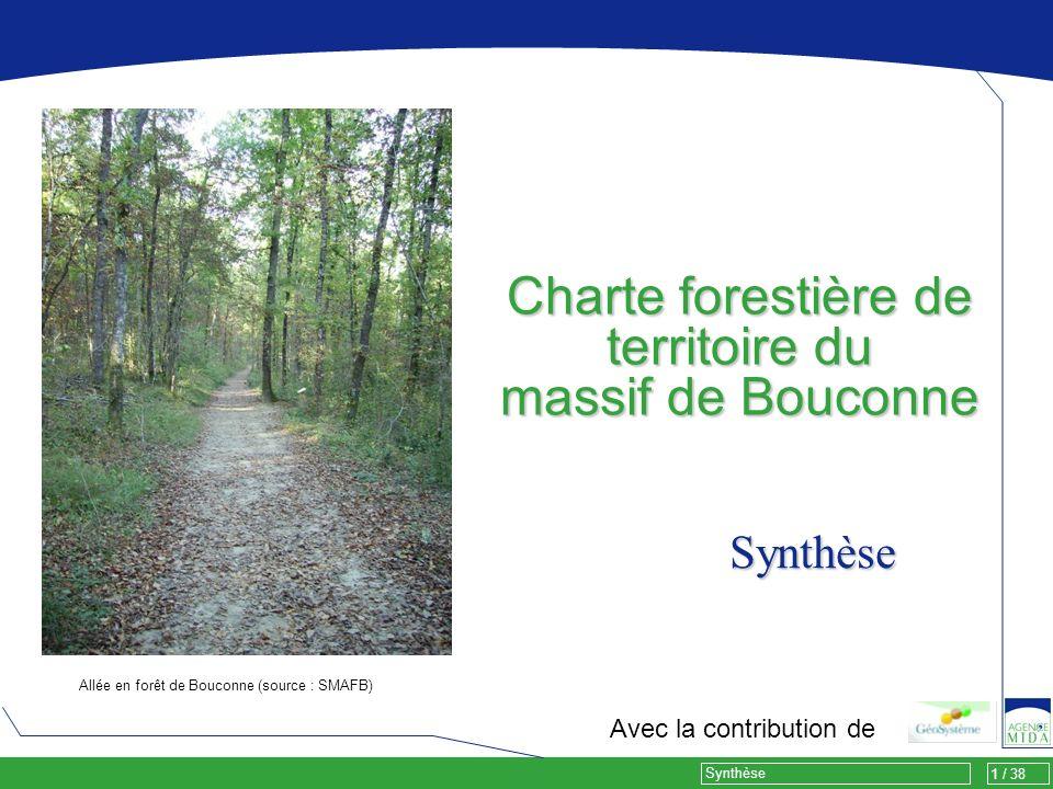 1 / 38 Synthèse Charte forestière de territoire du massif de Bouconne Avec la contribution de Allée en forêt de Bouconne (source : SMAFB) Synthèse