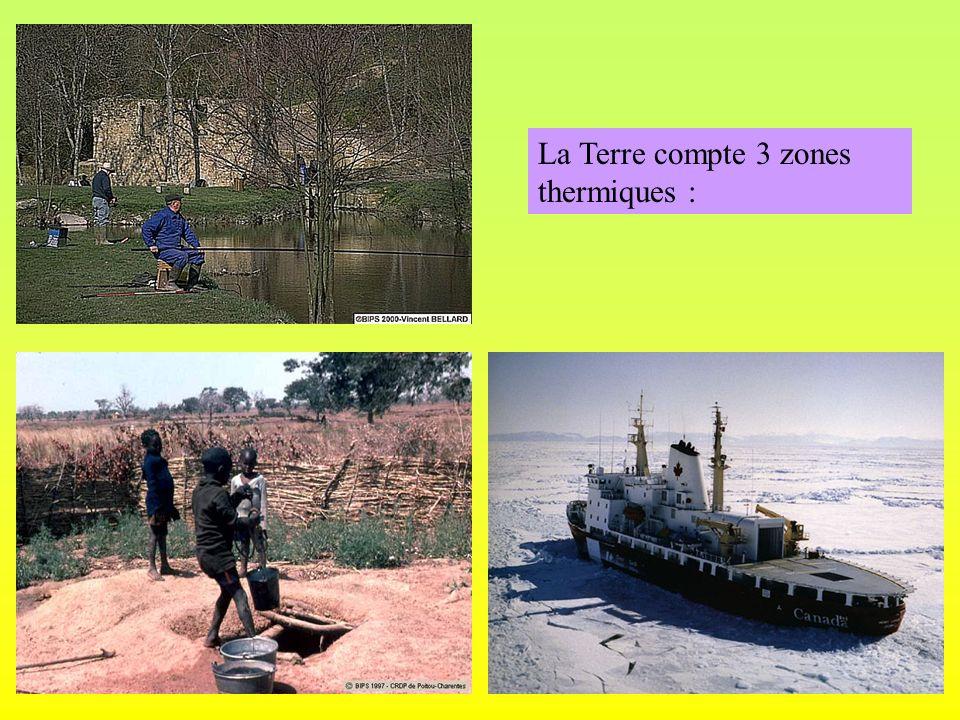 2) Porto au Portugal (Europe) Températures Précipitations T° : A = T°Moy = Mois le plus chaud : Mois le plus froid: Nombre de mois de pluie : Nombre de mois secs: Nombre de mois humides : P / Totales : Climat : 16,4°C 3,5°C 16,4°C - 3,5°C = 12,9°C Août Janvier 16,4°C 12 0 0 782 mm / an