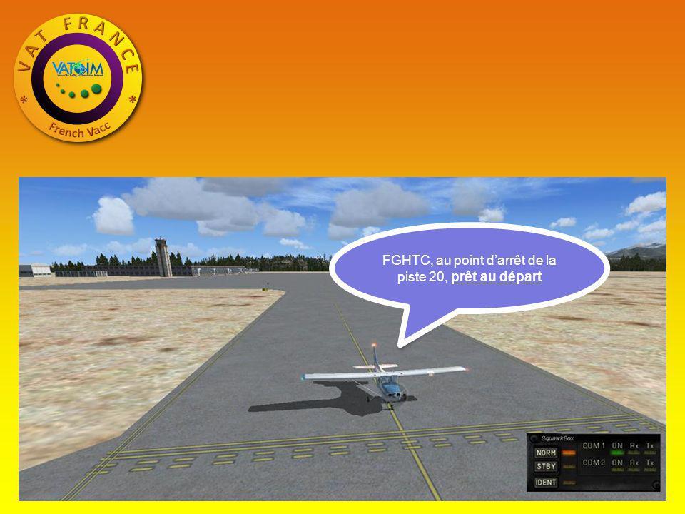 FGHTC, au point darrêt de la piste 20, prêt au départ