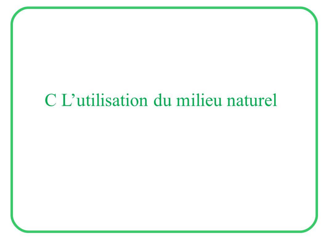 C Lutilisation du milieu naturel
