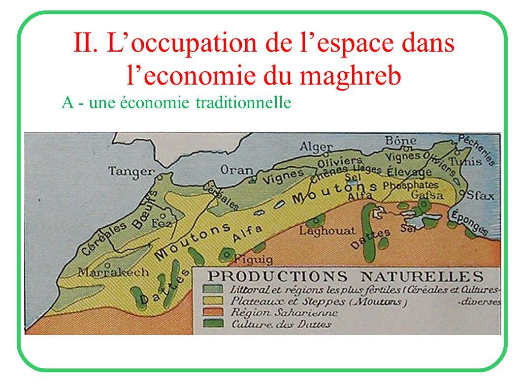 II. Loccupation de lespace dans leconomie du maghreb A - une économie traditionnelle