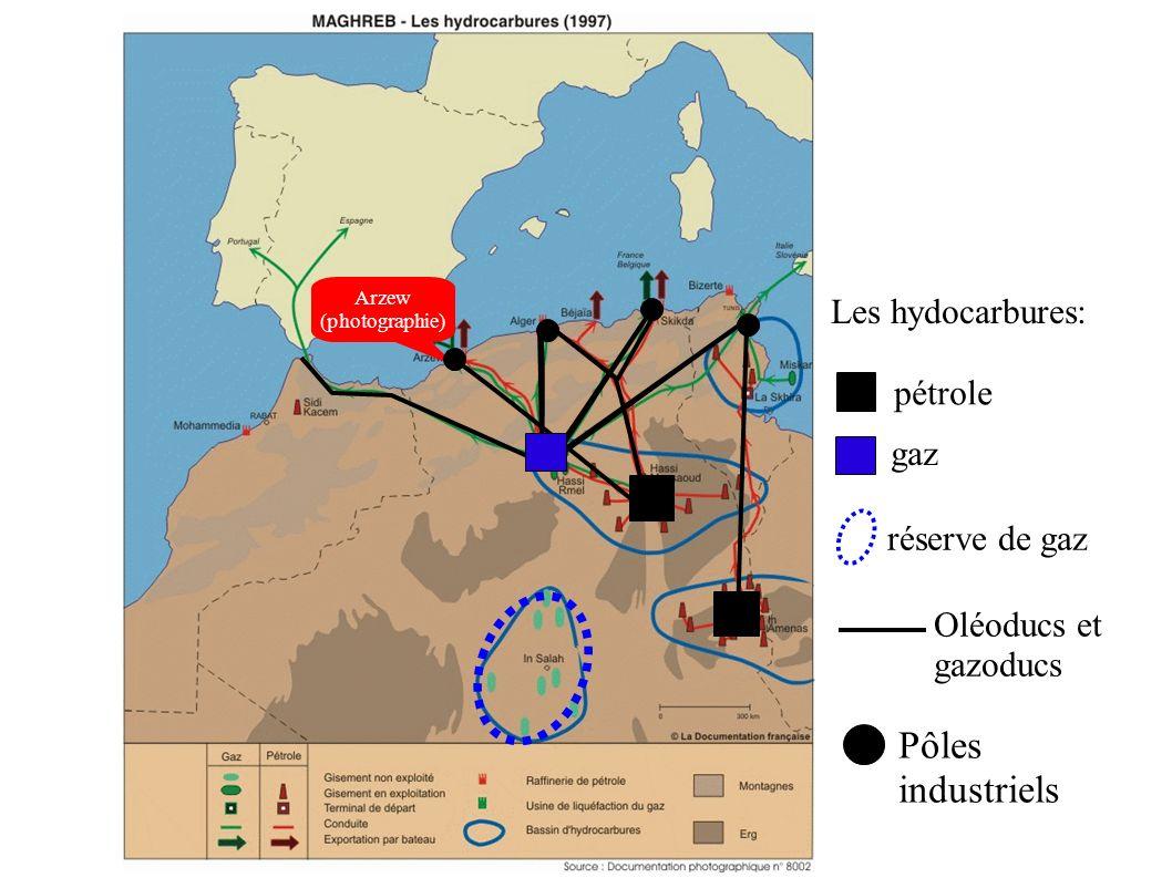 pétrole gaz Les hydocarbures: Oléoducs et gazoducs réserve de gaz Arzew (photographie) Pôles industriels