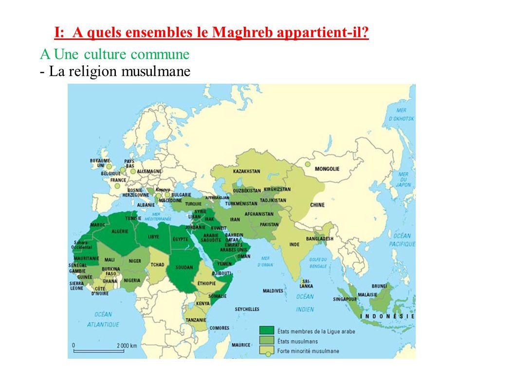 I: A quels ensembles le Maghreb appartient-il? A Une culture commune - La religion musulmane