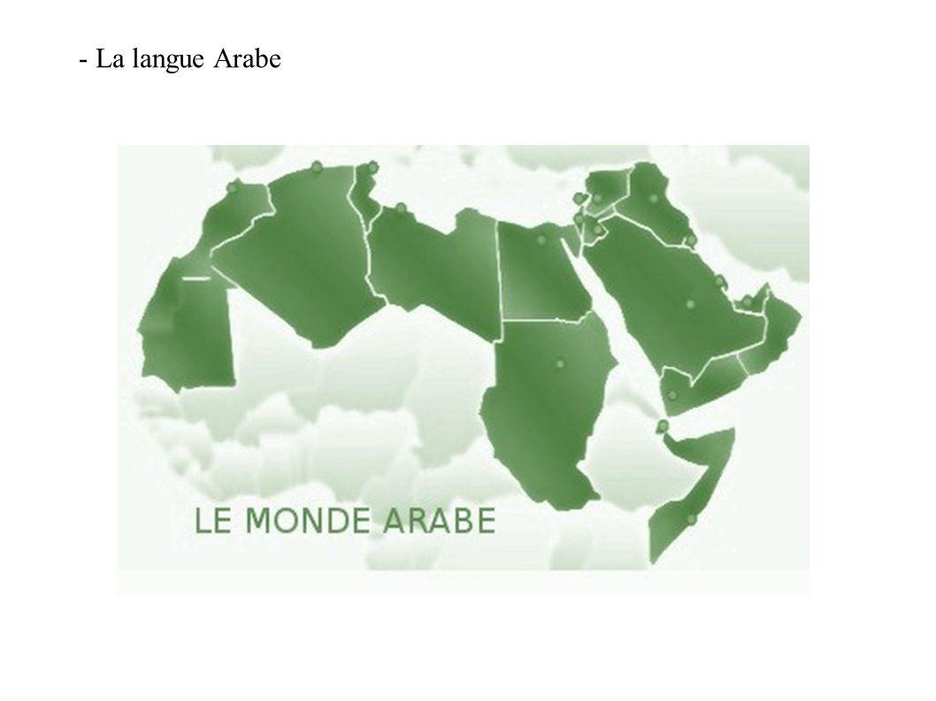 - La langue Arabe