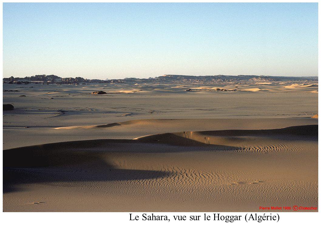Le Sahara, vue sur le Hoggar (Algérie)
