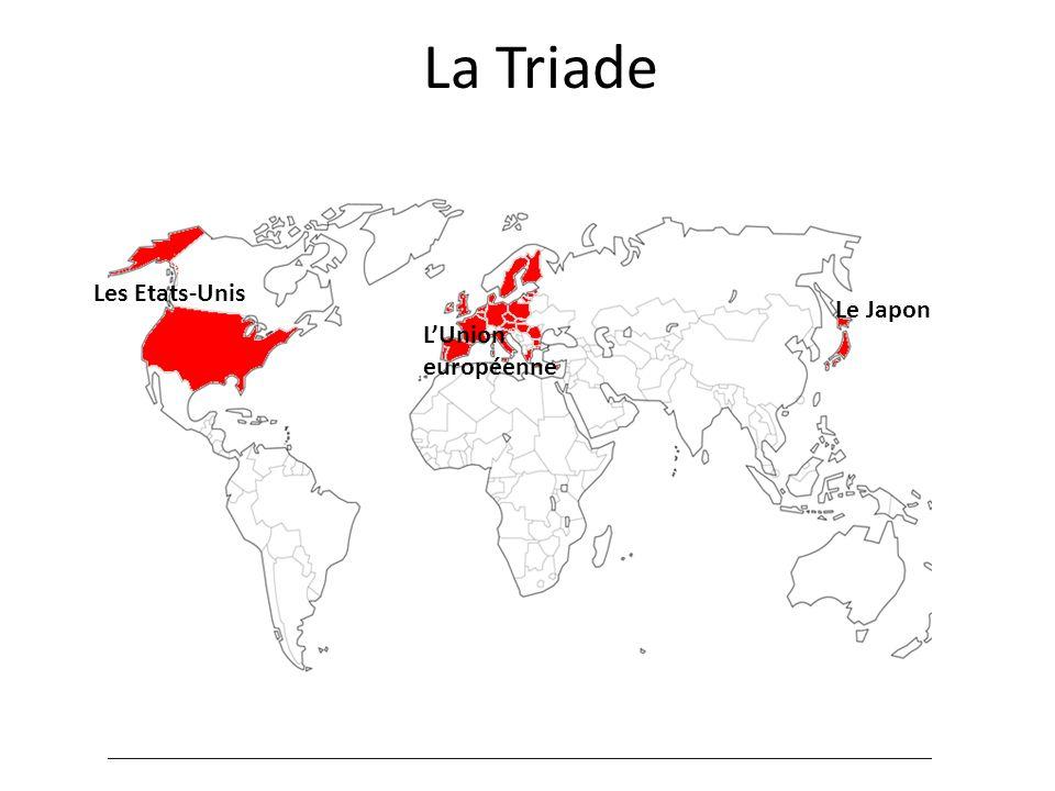 La Triade Les Etats-Unis LUnion européenne Le Japon
