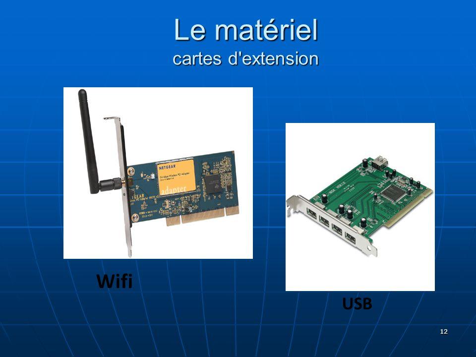 12 Wifi USB Le matériel cartes d'extension