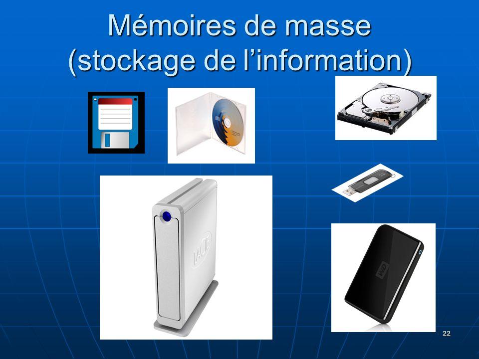 22 Mémoires de masse (stockage de linformation)
