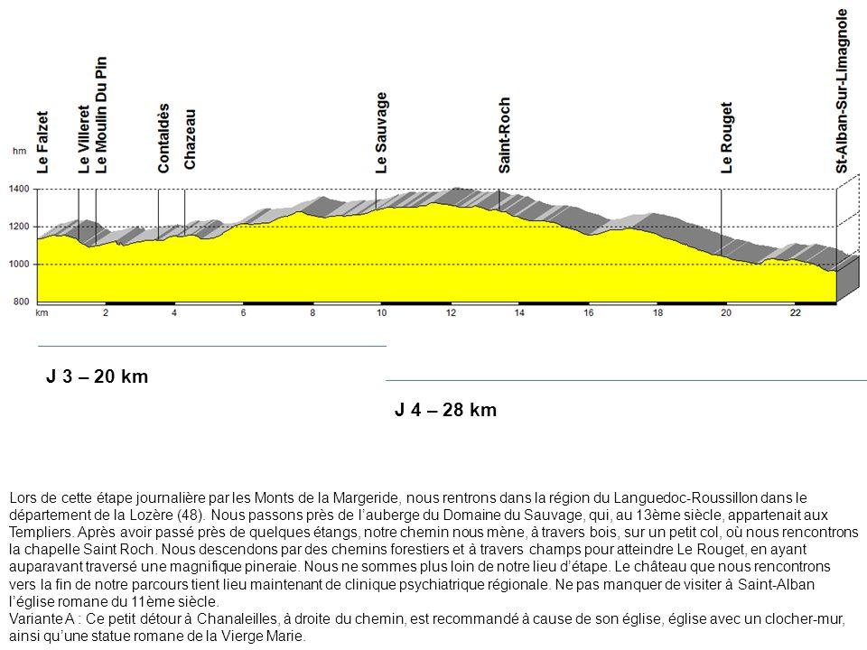 Lors de cette étape journalière par les Monts de la Margeride, nous rentrons dans la région du Languedoc-Roussillon dans le département de la Lozère (