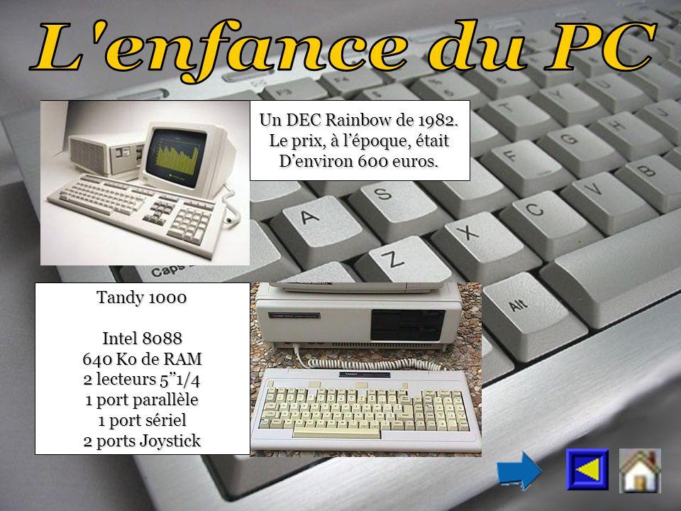 Un DEC Rainbow de 1982. Le prix, à lépoque, était Denviron 600 euros.
