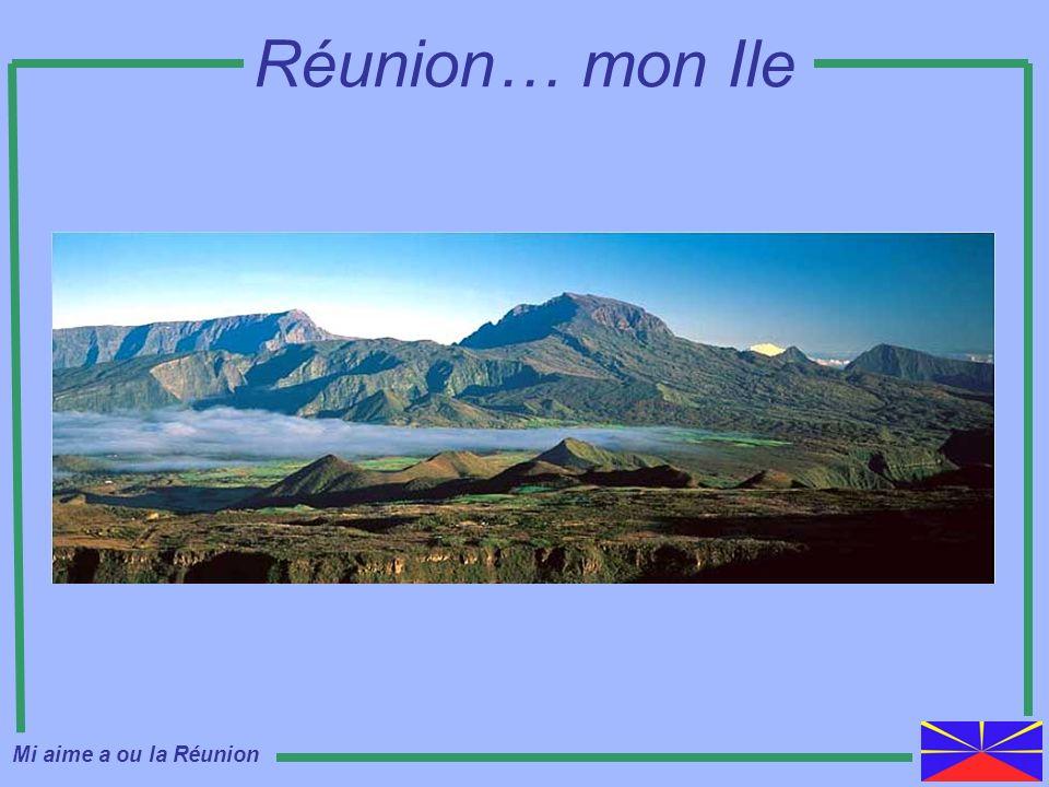 Carte de lIle Mi aime a ou la Réunion