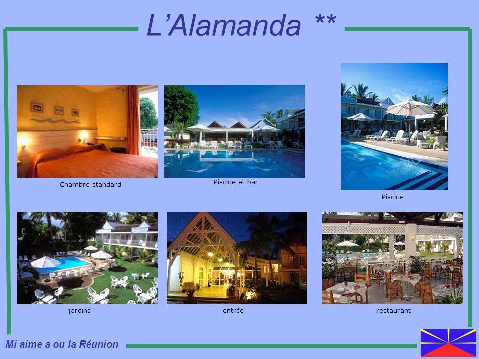LAlamanda ** restaurantjardinsentrée Chambre standard Piscine et bar Piscine Mi aime a ou la Réunion