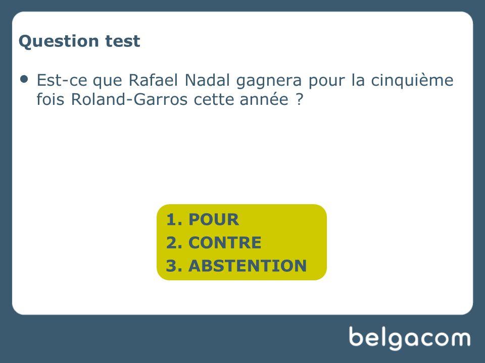 Question test Est-ce que Rafael Nadal gagnera pour la cinquième fois Roland-Garros cette année .