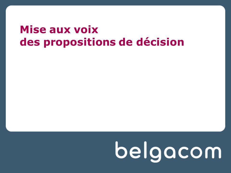 Mise aux voix des propositions de décision