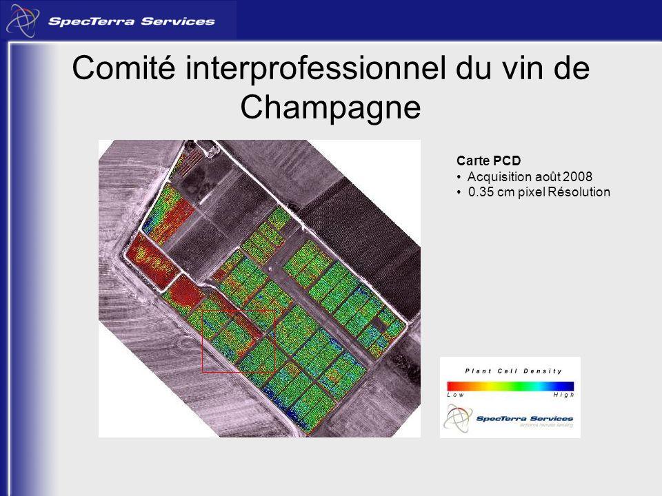 Carte PCD Acquisition août 2008 0.35 cm pixel Résolution Comité interprofessionnel du vin de Champagne