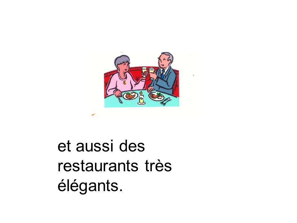 Quand il fait beau… On aime manger à la terrasse dun café.