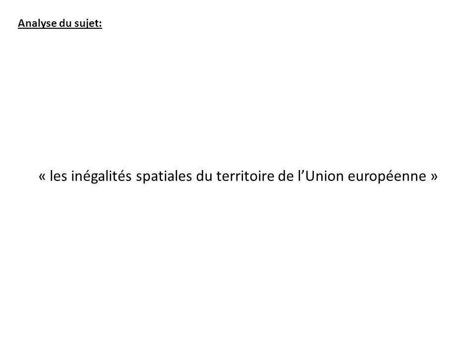 « les inégalités spatiales du territoire de lUnion européenne »