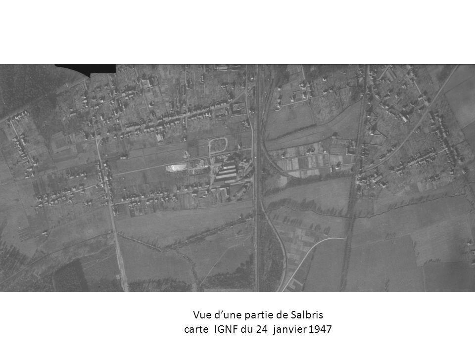 Vue dune partie de Salbris carte IGNF du 24 janvier 1947