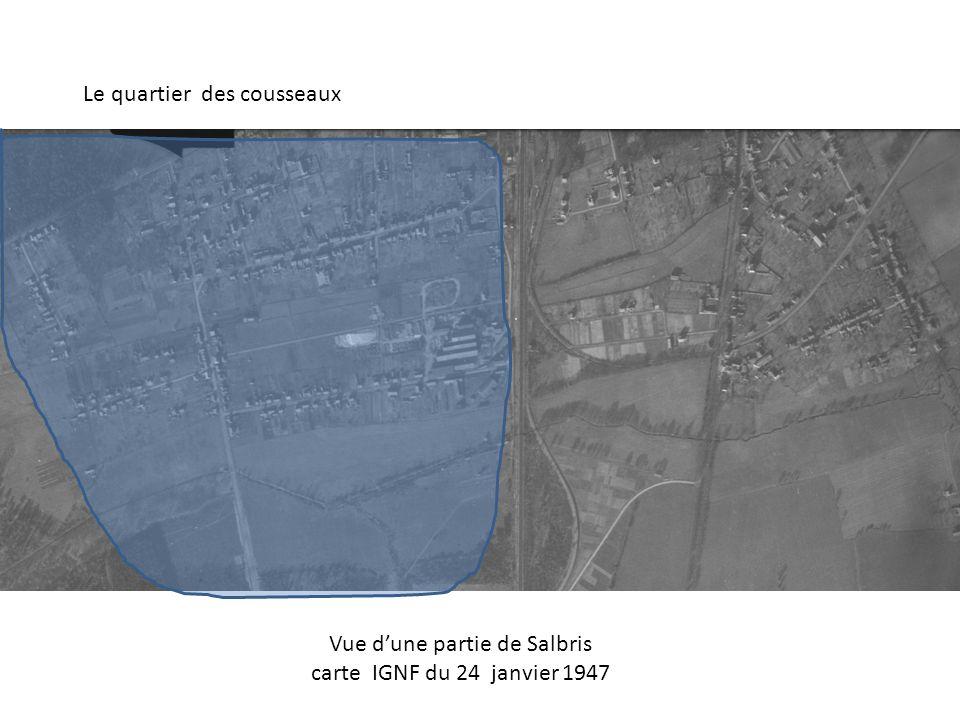 Le quartier des cousseaux Vue dune partie de Salbris carte IGNF du 24 janvier 1947