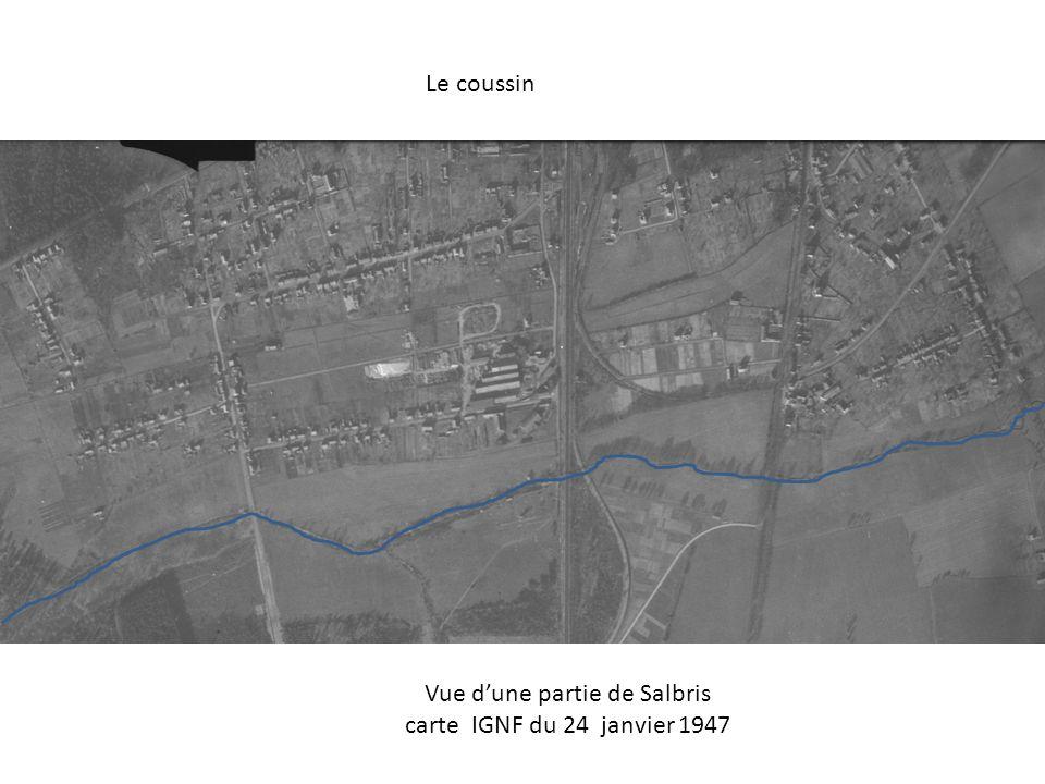 Le coussin Vue dune partie de Salbris carte IGNF du 24 janvier 1947