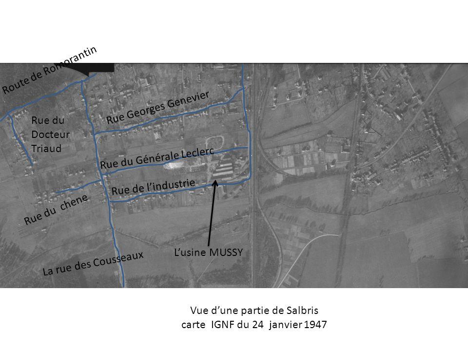 Lusine MUSSY La rue des Cousseaux Rue de lindustrie Rue du Générale Leclerc Rue Georges Genevier Route de Romorantin Rue du Docteur Triaud Rue du chen