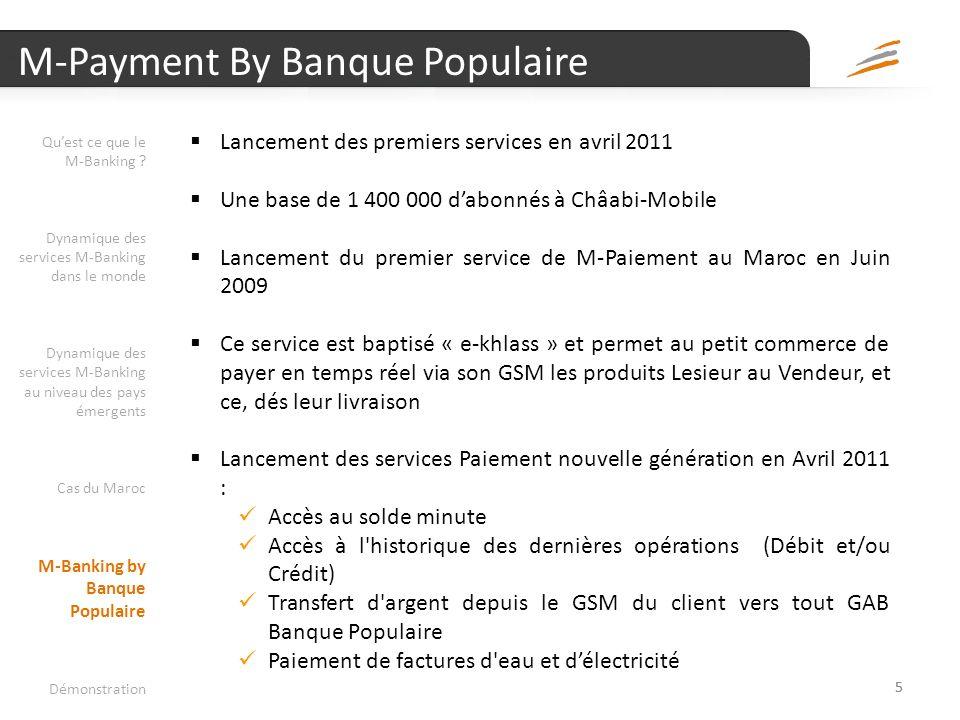 Les services M-Banking dans les pays émergents Quest ce que le M-Banking ? Dynamique des services M-Banking dans le monde Dynamique des services M-Ban