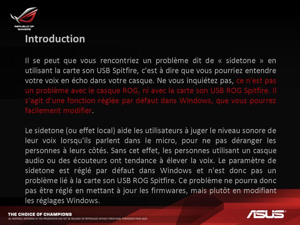 Eteindre l effet de sidetone de Windows - Etape 1 Démarrer Panneau de configuration