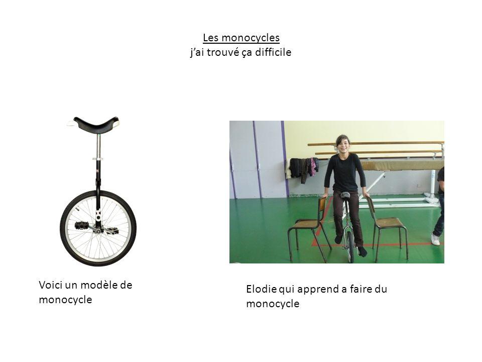 Les monocycles jai trouvé ça difficile Elodie qui apprend a faire du monocycle Voici un modèle de monocycle