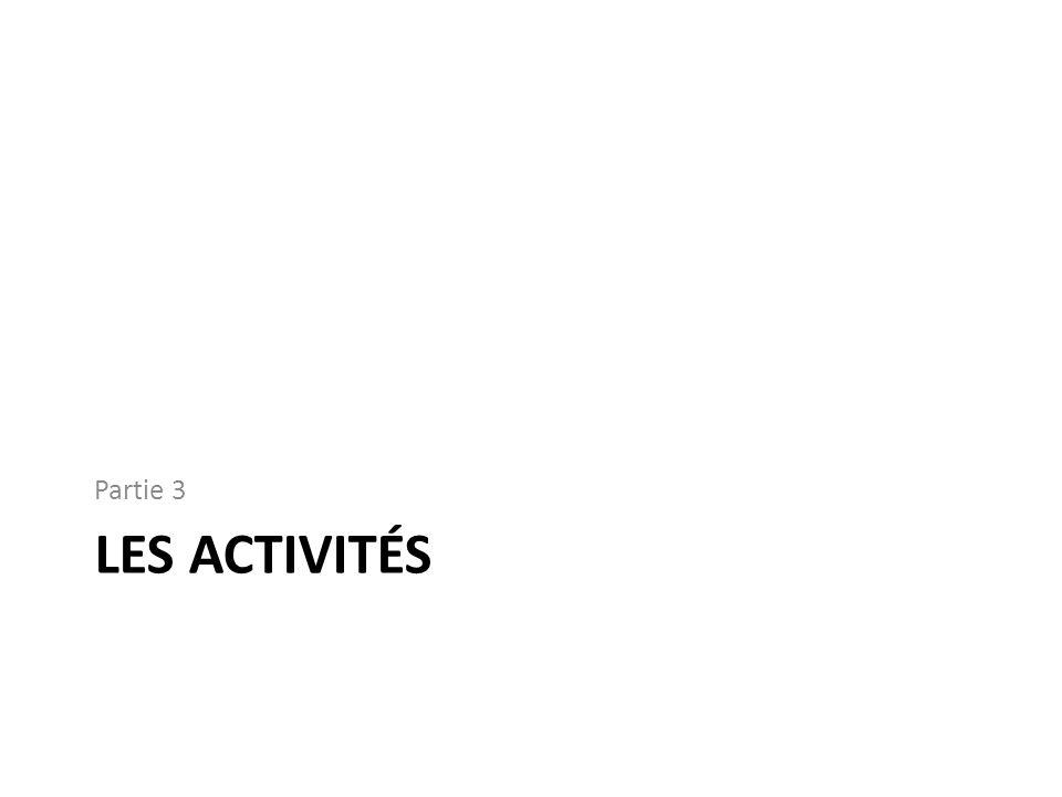 LES ACTIVITÉS Partie 3