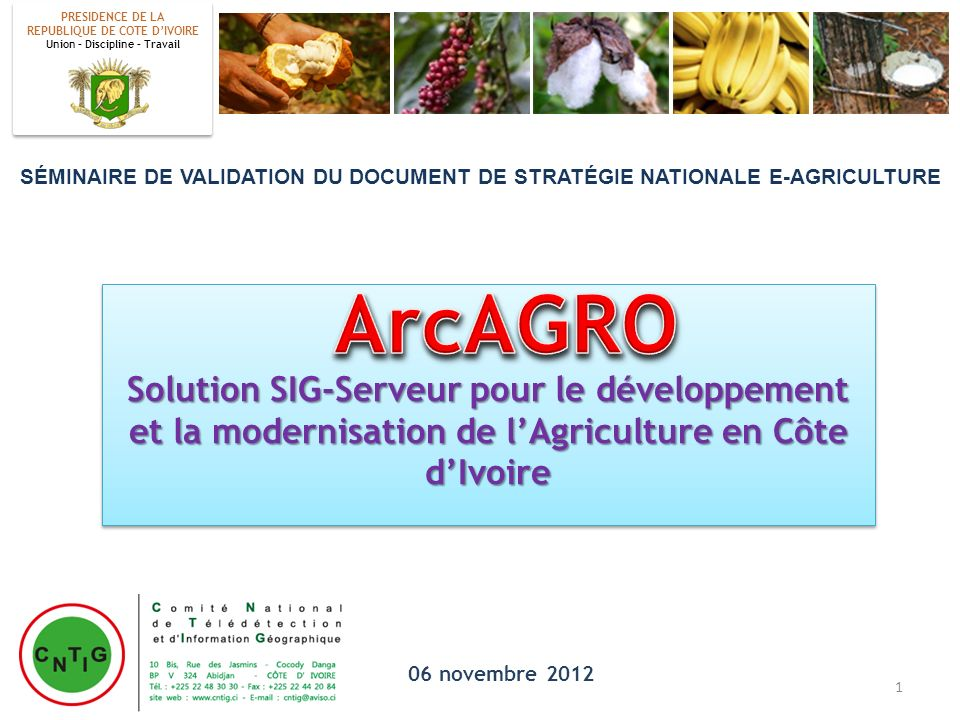 MINAGRI Directions Régionales FILIERE 2 FILIERE 1 … MINAGRI ARC AGRO Application compatible Iphone, BlackBerry, Androïd.