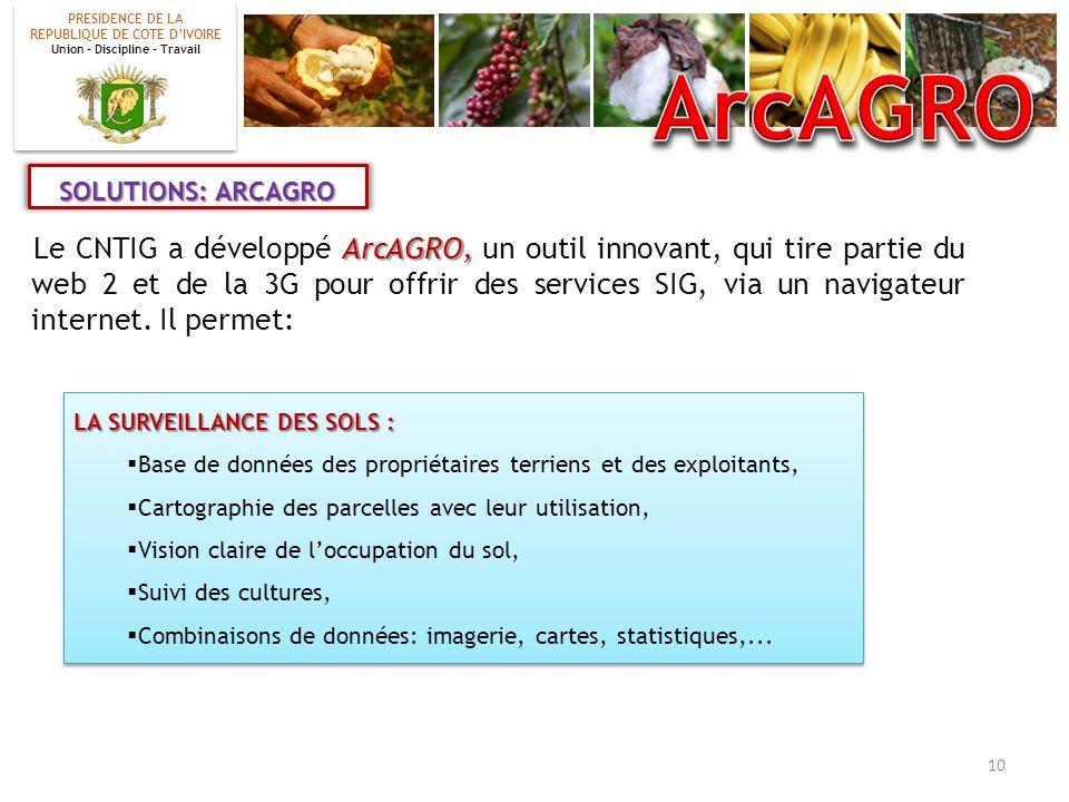 ArcAGRO, Le CNTIG a développé ArcAGRO, un outil innovant, qui tire partie du web 2 et de la 3G pour offrir des services SIG, via un navigateur interne