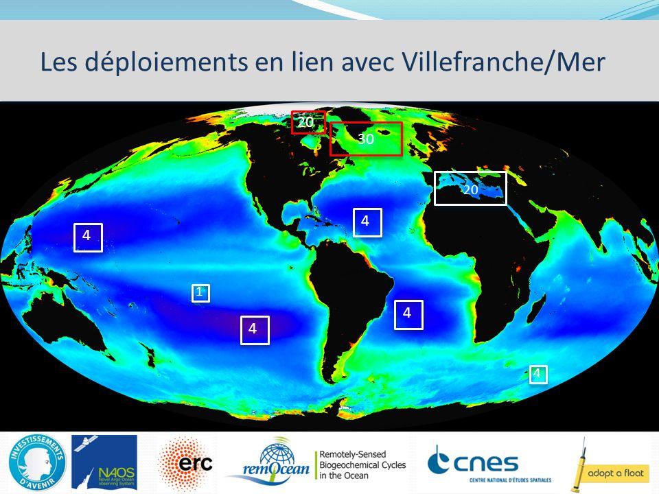 Les déploiements en lien avec Villefranche/Mer 20 4 1 4 4 4 4 30 20