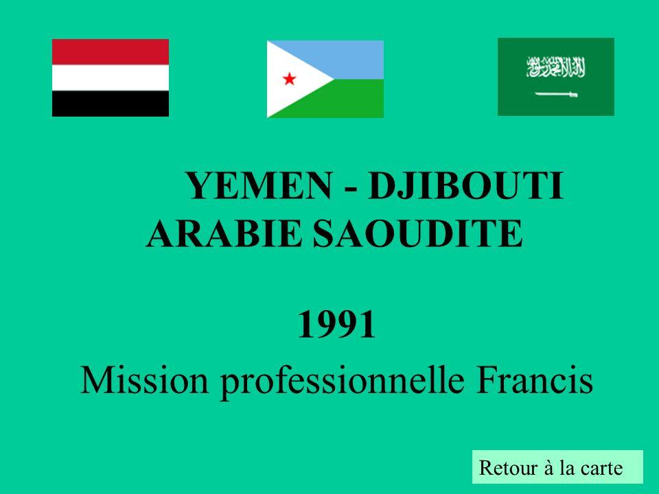 1991 Mission professionnelle Francis Retour à la carte YEMEN - DJIBOUTI ARABIE SAOUDITE
