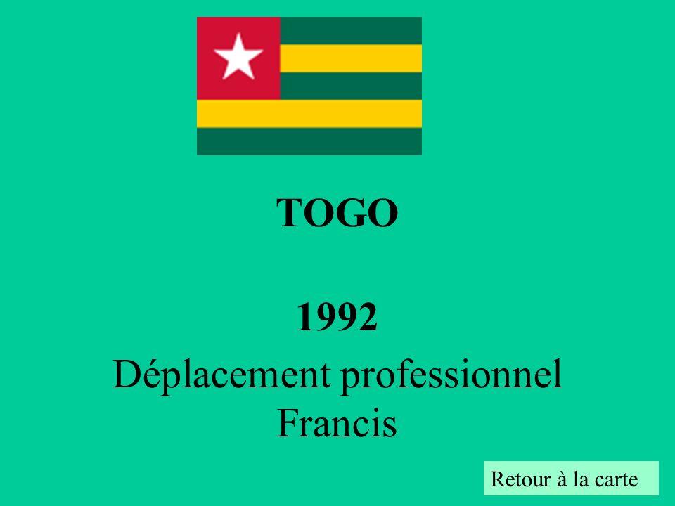 TOGO 1992 Déplacement professionnel Francis Retour à la carte