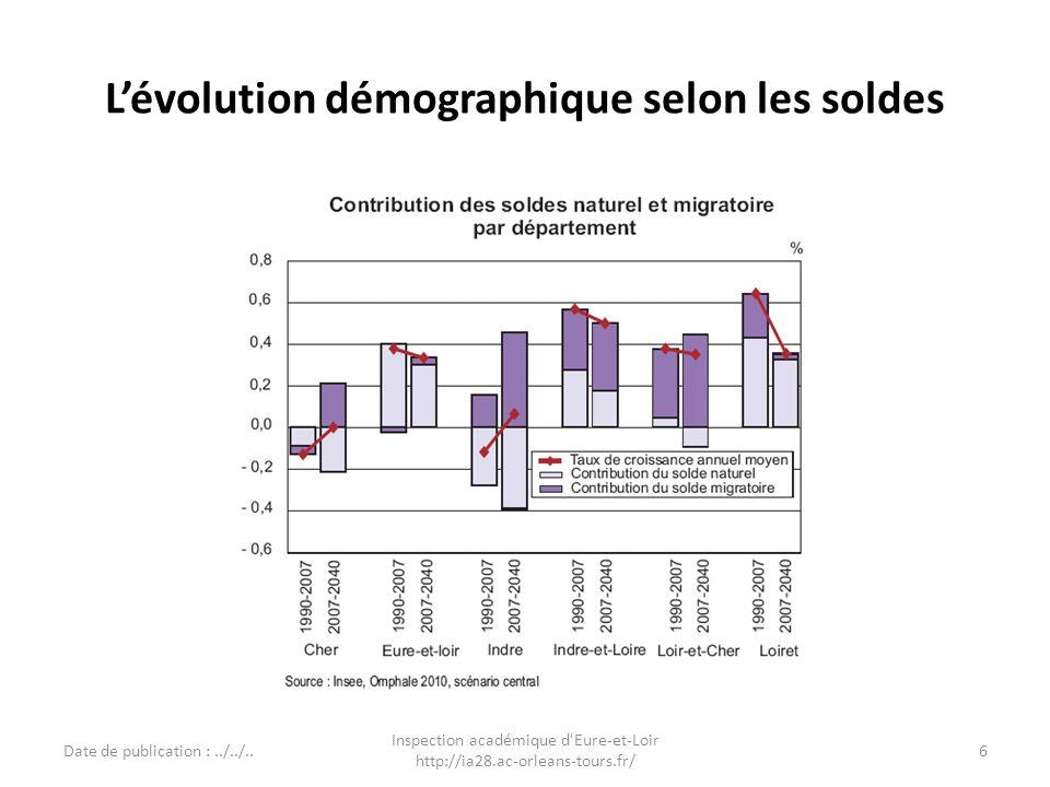 Densité et migrations Date de publication : 24/06/2011 Inspection académique d Eure-et-Loir Source INSEE http://ia28.ac-orleans-tours.fr/ 7
