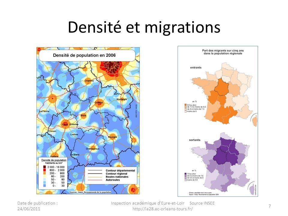 Les entrants et les sortants en région Centre Date de publication : 24/06/2011 Inspection académique d Eure-et-Loir Source INSEE http://ia28.ac-orleans-tours.fr/ 8